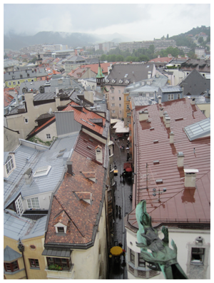 Overlooking Part of Innsbruck's  Altstadt (Old Town)