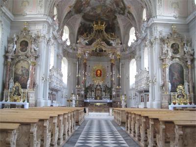Inside Wilten Basilica